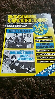 Record Collector Magazine No.79 Dire Straits / Rolling Stones