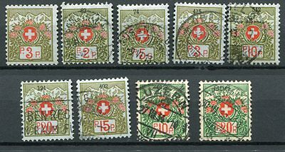 HELVETIA - Selection Postage Due, cancelled