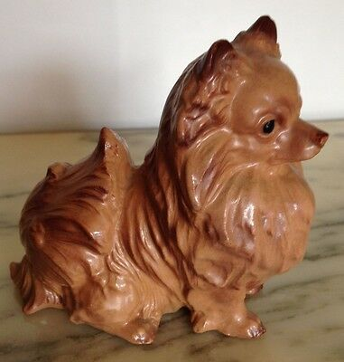 Vintage Hagen-Renaker California Pottery Mickey Pomeranian Pedigree Dog!