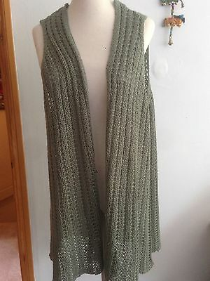 ladies Long Length Sleeveless Knitted  Waistcoat ,Jacket, Cardigan 20/22