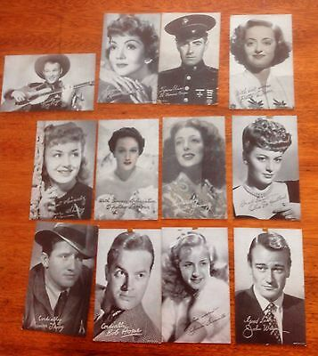 1940's Iconic Hollywood Film Star Arcade Cards