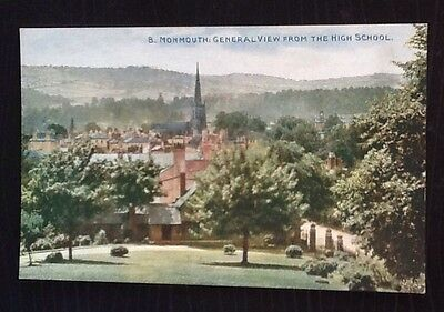Monmouth General View From The High School. Photochrom.