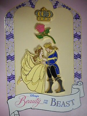 Disney DS Beauty and the Beast Stained Glass Boxed Pin Set