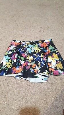 Eleve tulip style ballet skirt. Colorful flowers on black. Small
