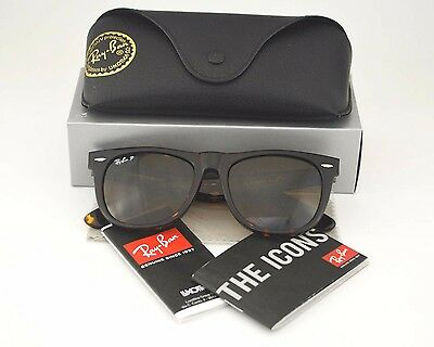 New Ray Ban RB2140 Original Wayfarer Classics Brown Lens Unisex Sunglasses 54mm