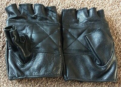 Leather Gloves  Fingerless Size XL