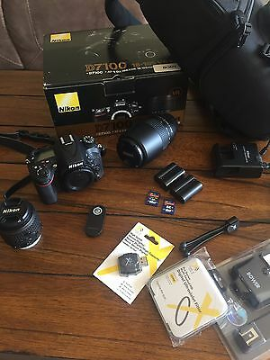 Nikon d7100 bundle with 2 lenses, hardly used