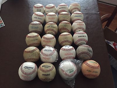 24 NEW & Used Leather Practice & Game Baseballs - Various Brands
