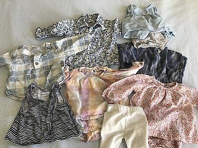 Lot Of 11 Baby Girls Clothes Size 3-6 Months Old Navy California Cool