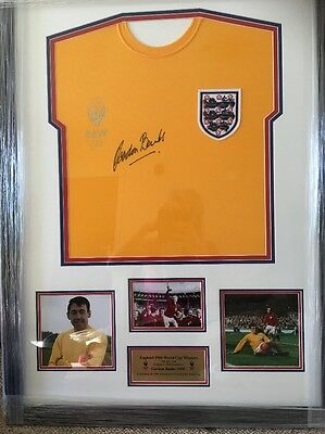 Gordon Banks Signed Shirt England 1966 World Cup Winners