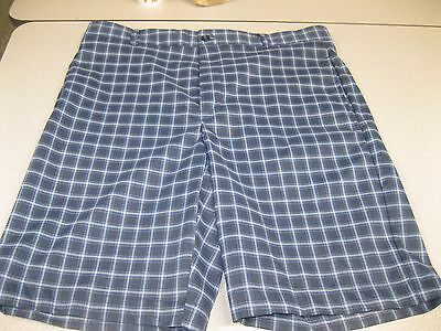 Greg Norman Performance Golf Shorts (Size 34), BluePlaid, NWT, MSRP is $55.00