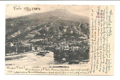 Bosnia  FOCA  Original old postcard Posted with military stamp. 1904.