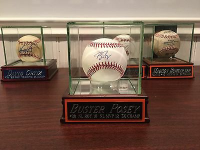 Buster Posey Autographed Baseball with Case/Nameplate JSA authenticated