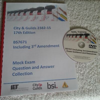 BS7671 2382 17th Edition Wiring Regulations 3rd Amendment Mock Exam + Cover Disc