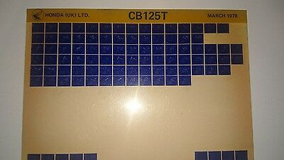 CB125 T 1978  Honda motorcycle manual microfiche.