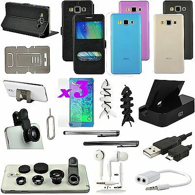 19 PCS Accessory Leather Case Cover Fish Eye Dock Charger For Samsung Galaxy A5