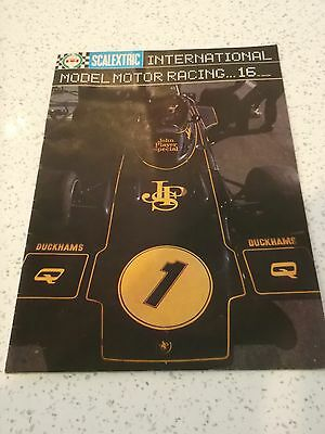 Scalextric International Model Racing No. 16 Catalogue 1975