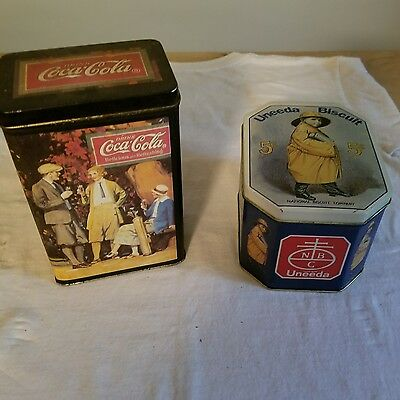 tin can tins coca cola ad nabisco