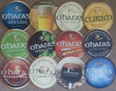 12 Different Carlow Brewery Ireland Beermats Coasters Bierdeckel Sous Bock