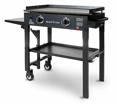 Gas Stove Griddle Cooktop Flat Top Grill Pancake Two Burner Dual Cooking Station