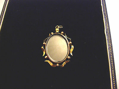 c VICTORIAN 9ct ROLLED GOLD OVAL DOUBLE SIDED LOCKET