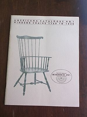 Americana Catalogue #1 1982 Windsor Chairs 1760 to 1830 David & Marjorie