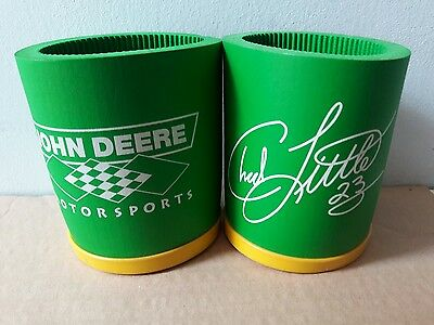2 Vintage NASCAR RARE JOHN DEERE RACING CHAD LITTLE No 23 Coozie Can HOLDER