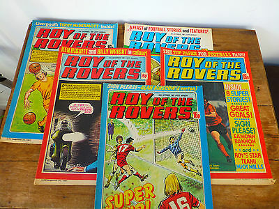 5 x Roy of the Rovers Comics 1981