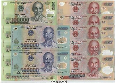2 MILLION Vietnam Dong Mixture 500,000 / 200,000 /100,000 UNCIRCULATED Currency