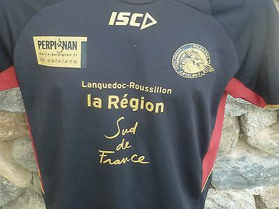 Maillot Rugby USAP PERPIGNAN Dragons catalans Etat neuf taille M