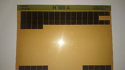 H100 A 1980 issue 1  Honda motorcycle manual microfiche.