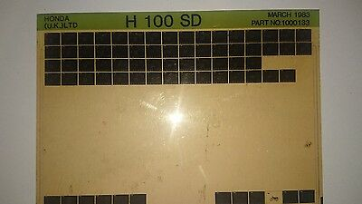 H100 SD 1983  Honda motorcycle manual microfiche.