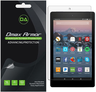3x Dmax Armor Clear Screen Protector for Amazon Fire HD 8 Tablet (2018/2017 Re)