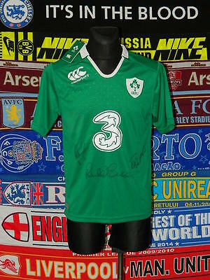 new w/tags 5/5 Ireland adults M signed rugby union shirt jersey trikot