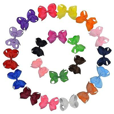 Cute Hair Bows Girls Baby Toddlers Alligator Clip Headband Accessories Lot 4-5""