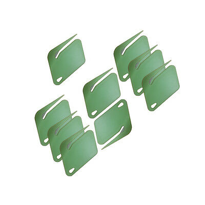MS066- Green Plastic Letter Opener With Concealed Steel Blade (9 Pack)