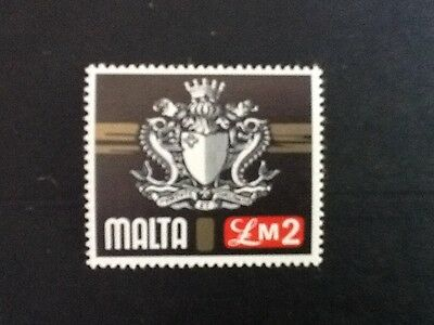 Malta 1973 Definitive  £2  Arms of Malta  MNH  V/F Sc 468  SG500