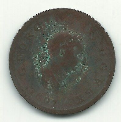 A Vintage 1807 Great Britain English Large Penny Cent-Jun338