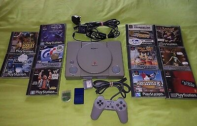 Sony Playstation 1 Console(9002)and games bundle