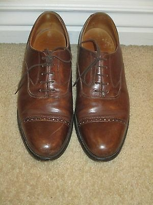 Peal & Co. Brooks Brothers Leather Oxford Shoes Men's sz 8D Brown Nice Condition