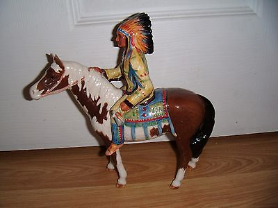 Beswick Mounted Horse With Indian Chief ~  Model 1391 ~ 1955-90  ~ Excellent