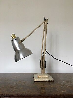 Vintage Herbert Terry Cream Anglepoise 1227 20th Century Desk Lamp