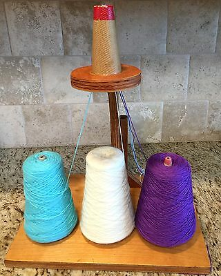 Cottage CONE Yarn Holder Holds 3 Cones Included Your Choice of Colors