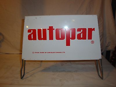 Autopar Tire Display Stand Sign 1970's Vintage Chrylser Dodge Mopar  Advertising
