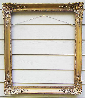 """Large Antique Victorian Gilded Picture Frame  33.5 x 28"""""""