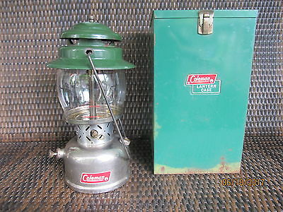 Vintage  Coleman Model 236  Camping Lantern Dated 6-66 With Metal Coleman Box