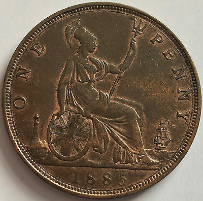 1885 Penny Uncirculated grade traces of lustre