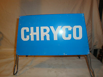 Chryco Tire Display Stand Sign 1970's Vintage Chrylser Dodge Mopar  Advertising