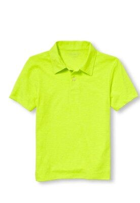 children's place Short Sleeve neon boys Jersey polo t-shirt Size 5/6