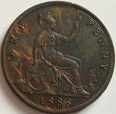 1888 Penny Uncirculated grade with a really lovey tone